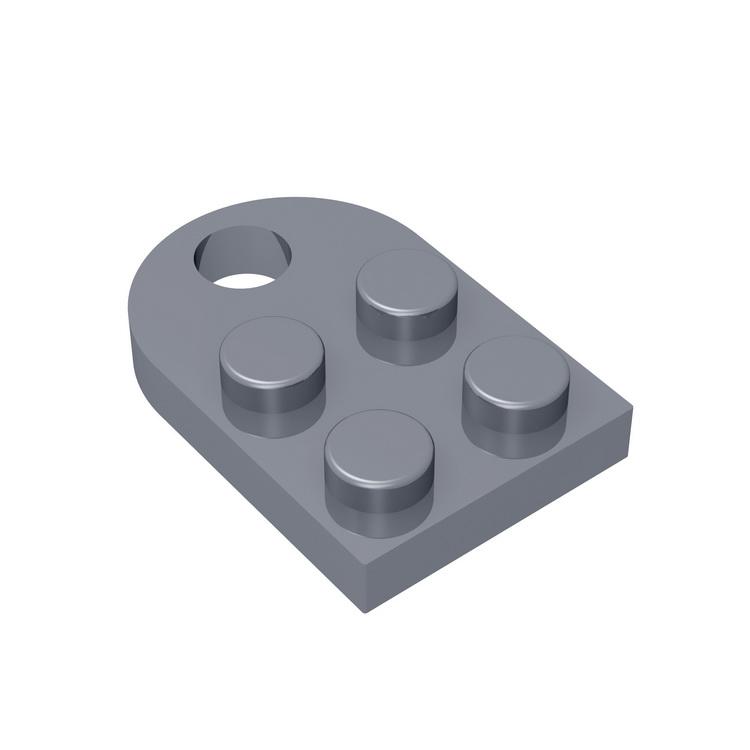 BuildMOC Compatible Assembles Particles 3176 Modified 2x2 Building Blocks Parts DIY electric Educational Classic Brand gift Toy