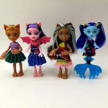 4 PCS/Set Dolls New Style high dolls Monster fun Moveable Joint Body Fashion Classic Toys Girls Best Gift figure diy