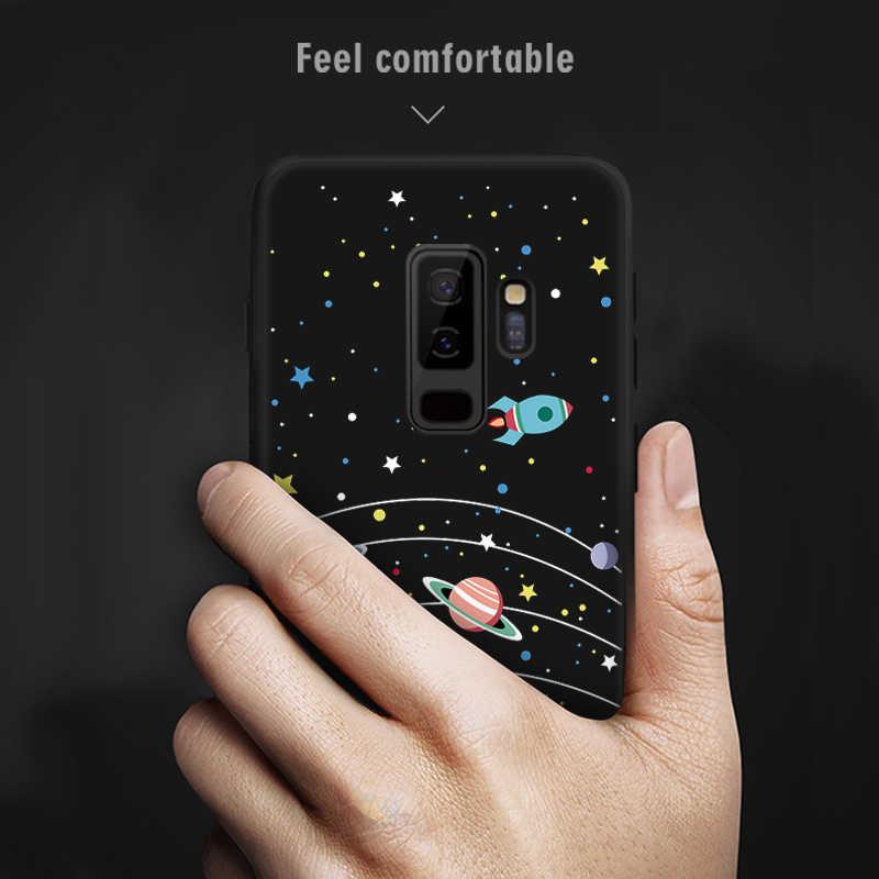 Samsung Galaxy S9 S8 A6 A8 Artı 2018 Kılıf Kapak Boyalı Koruyucu Yumuşak TPU Fundas Samsung kılıfı A5 2017 Not 8 not 9