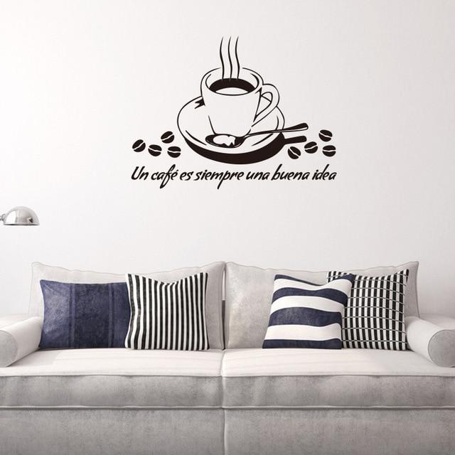 Küche Zitate Wandtattoo Vinyl Kaffeetasse Wandaufkleber Esszimmer ...