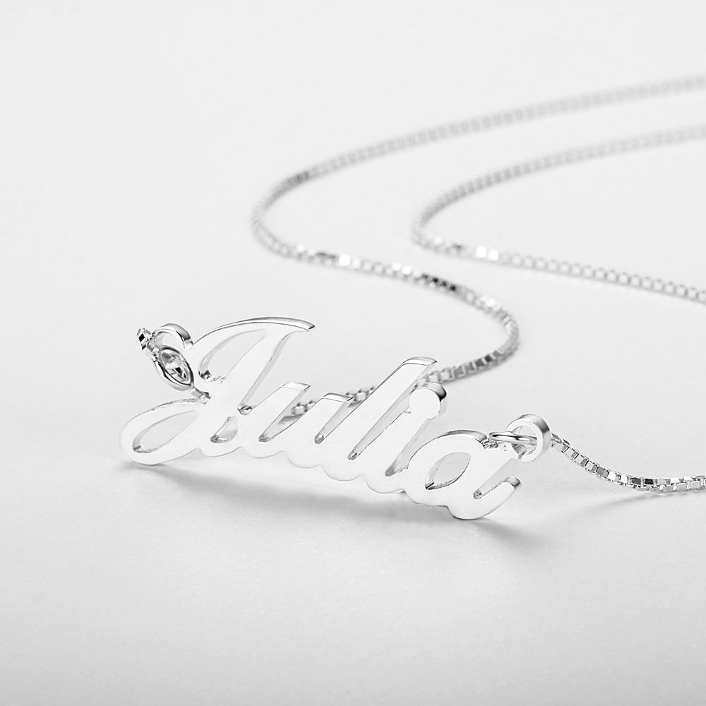 Prilagođeno Rusko ime ogrlica 925 sterling srebro privjesak ogrlica - Fine nakit - Foto 4