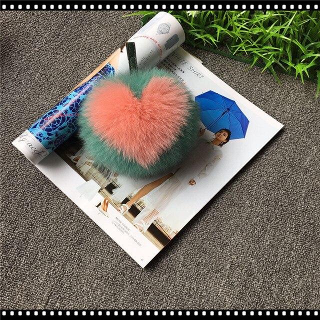 2017 fox fur ball love letter really super plush fur bags wool ball ...