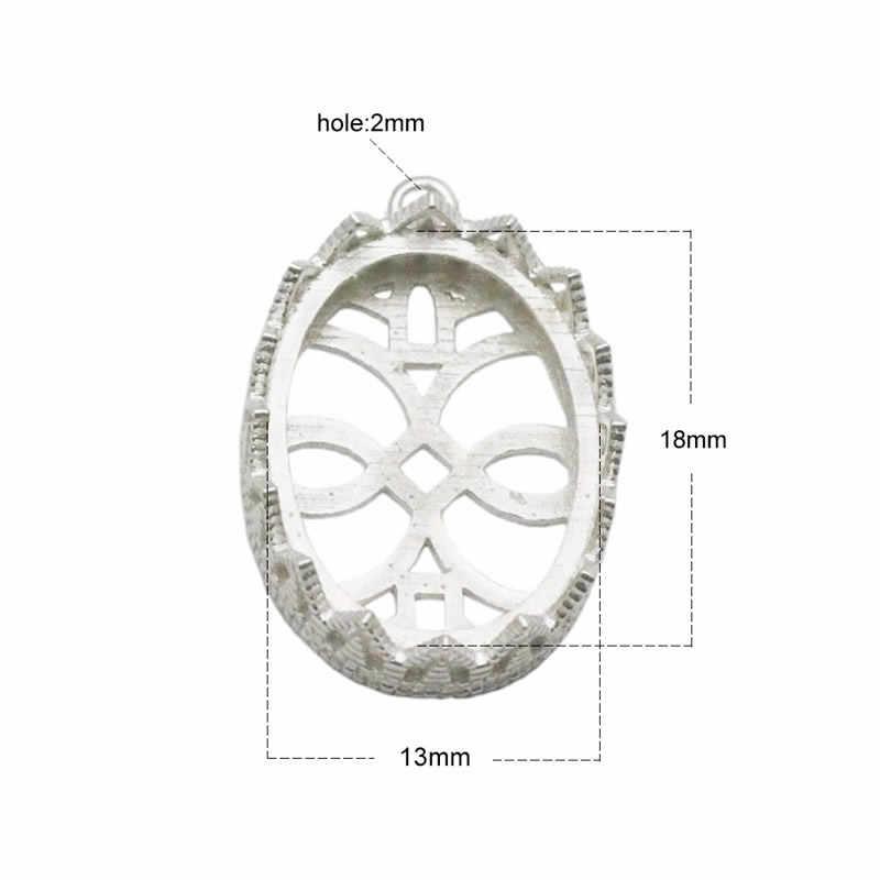 Beadsnice Fornecimento de Jóias de Prata Esterlina 925 Pingente Bandejas Configurações Pingente Bisel Copos Esterlina Oco Presente de Natal ID32638