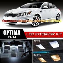 Free Shipping 10Pcs/Lot 12v Xenon White/Blue Package Kit LED Interior Lights For 11-14 Kia Optima free shipping 10pcs gl830 qfp48 package