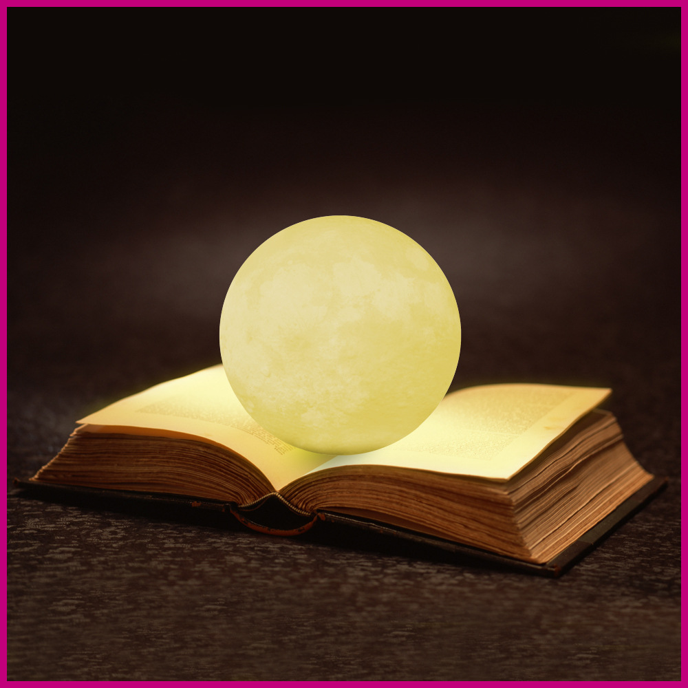 Moon Light,Glowing Moon Globe Light, 3D Glowing Moon Lamp With Stand, Luna Moon Lamp with 3 Colors(Cool/Warm White&Yellow) night light moon lamp warm white rgb moon light 2 colors 16 colors 3d printed moon lamp led art deco 8cm 10cm 15cm 18cm 20cm