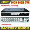 New 16CH 960H DVR Recorder Full D1 Real Time Recording H 264 Network 16 Channel CCTV
