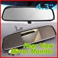 Um pedaço dois usados 4.3 polegada LCD espelho retrovisor do carro monitor de alta-definição/exibição do monitor do carro do carro 1A Freeshipping GGG