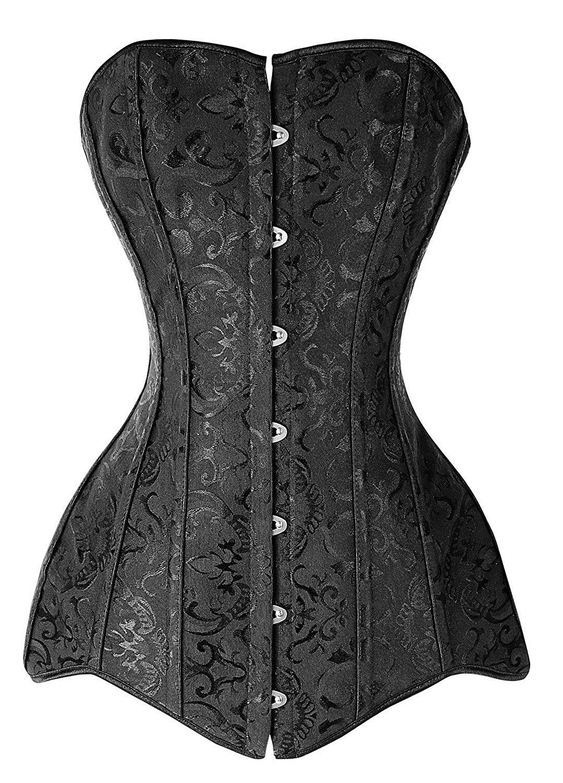 plus size corset double 26 steel boned corset overbust long torso