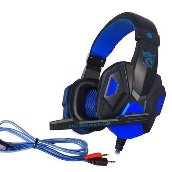 PC780 PK SY830MV Deep Bass Game Headphone Stereo Over-Ear Gaming Headset Headband Earphone with Light for Computer PC Gamer