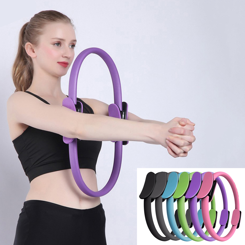 Yoga Pilates Equipment Ring Pilates Magic Circle Dual Grip Yoga Gym Ring Exercise Fitness Body Building Training Yoga Accessorie