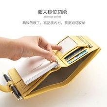 Lovedoki 2019 A6 A7 poche personnelle planificateur en cuir de vache véritable classique cahier à spirale manuel daffaires classeur journal de stockage