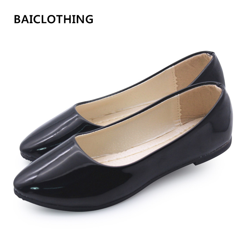 BAICLOTHING one size smaller women casual solid office flat shoes zapatos de mujer lady cute casual pu leather colorful shoes baiclothing women casual pointed toe flat shoes lady cool spring pu leather flats female white office shoes sapatos femininos