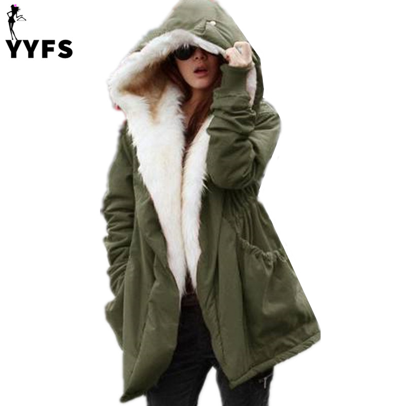 New 2017 winter women jackets cotton padded medium loose hooded parkas casual wadded quilt snow outwear warm fleece overcoat msfilia new winter coat warm slim women jackets cotton padded medium long thick hooded parkas casual wadded fleece outwear