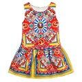 Girl Summer Dress 2016 Princess Vestido De Princesa Party Kids Dress Sleeveless Vetement Enfant Fille Toddler Girl Dress