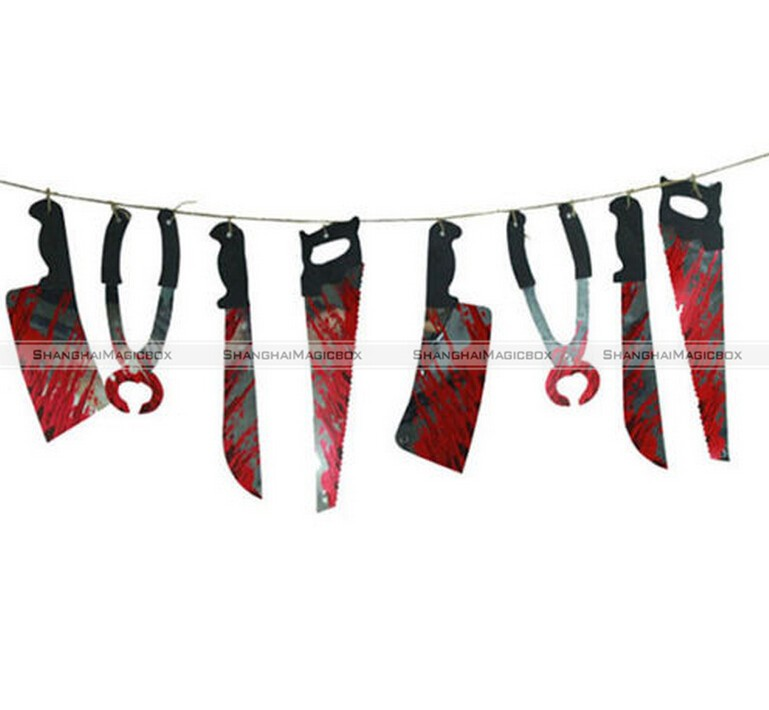 Horrible Halloween Party Haunted House Hanging Garland Pennant Banner Decoration