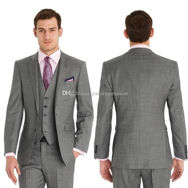 New Arrival Best Dark gray Fresh Wool Suit Cheap Men Suits Fashion ...