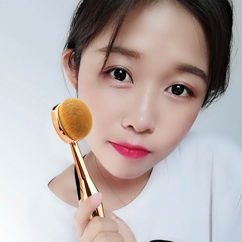 1PC Mermaid Toothbrush The New Foundation Oval Brush Oval The New Mermaid Makeup Brush Oval Foundation Brush DEC26 in Eye Shadow Applicator from Beauty Health