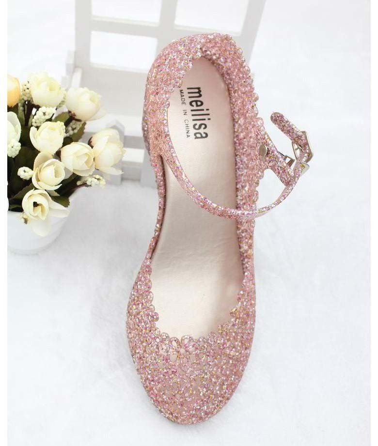 e94a5e94698f7f Free Shipping Women Summer Melissa Shiny Jelly Shoes Ladies Crystal  Foothold Flower Slipsole Nest Hollow Out Sandals-in Women s Pumps from  Shoes on ...