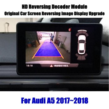 AUTO Reverse Rear View Parking Camera For Audi A5 2010-2020 Reversing Camera HD Decoder Module Car Screen Upgrade Display Update car rear view rearview backup camera for audi a1 8x 2010 2018 reverse reversing parking camera full hd ccd decoder accesories