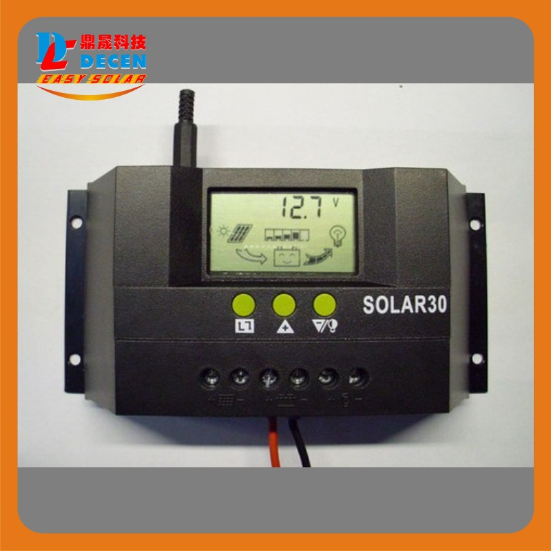 MAYLAR@ 3PCS Solar30  30A  LCD Solar Charge Controller 12V 24V PV panel Battery Charger Controller Solar system 100w 12v monocrystalline solar panel for 12v battery rv boat car home solar power