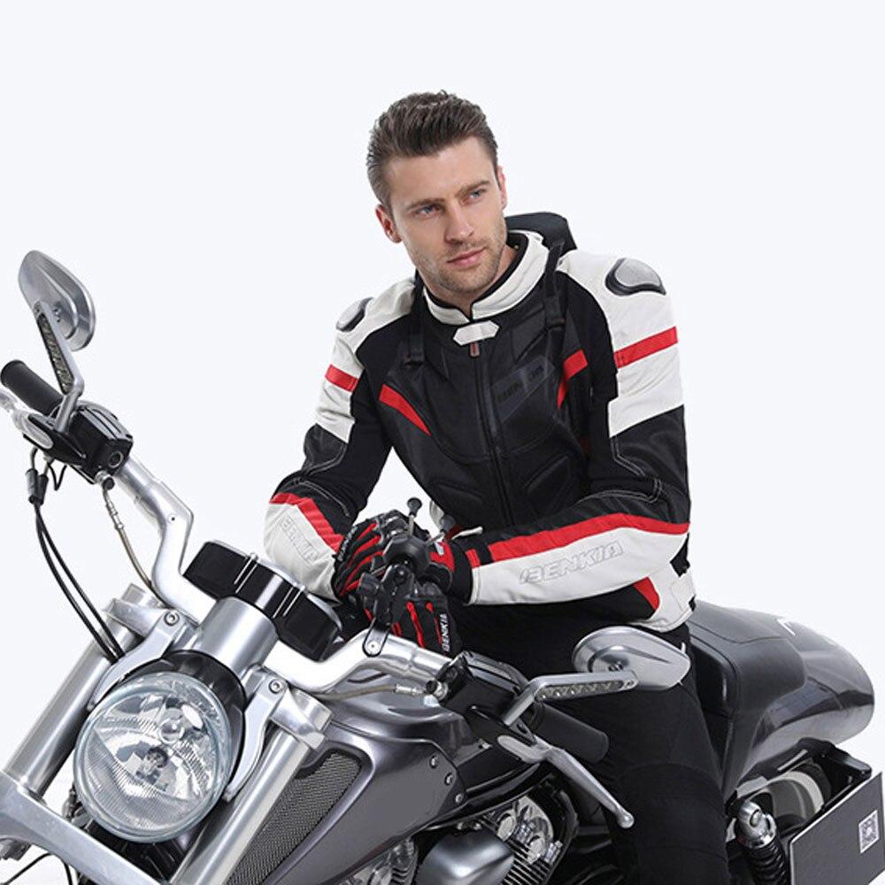 BENKIA hommes Moto Veste équipement de protection Moto vêtements amovible doublure Veste manteau réfléchissant course équitation Moto Veste