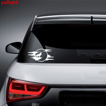 цена на Attractive Wolf Howling Moon Silhouette Car Truck Window White Vinyl Decal Sticker Cool Graphics