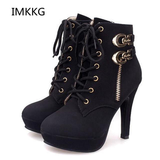 7c9a2123ca253 women boots sexy high heels platform ankle boots for women botas femininas  thin heel lace up night high heel boots G124