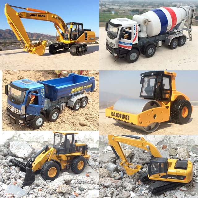 Children's Gift Excavator Dump Truck Mixer Forklift Super Solid Alloy Engineering Model Toy W82
