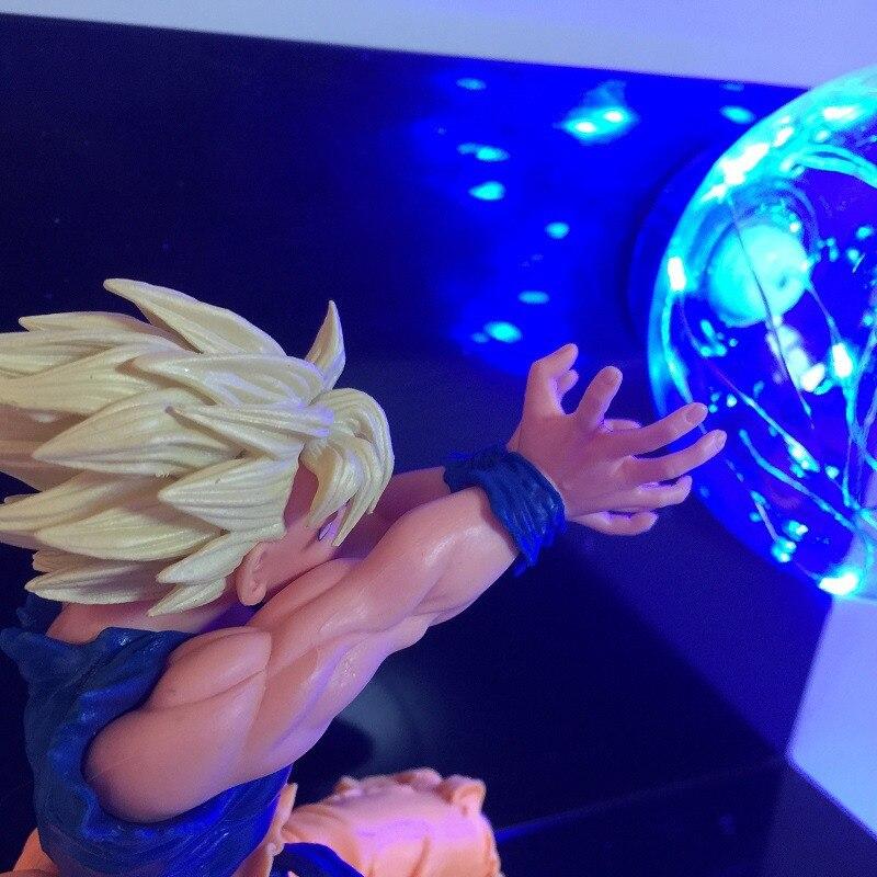 Dragon Ball Goku Son Blue Power Led Lighting Toy Anime Dragon Ball DBZ Super Saiyan Led Night Light RGB Colorful Home Lighting