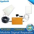 Высокое Качество! Двухдиапазонный Мобильный Усилитель Сигнала 850 МГц 1900 МГц CDMA ШТ 2 Г 3 Г Смарт сотовый телефон сигнал повторителя усилитель Полный комплект