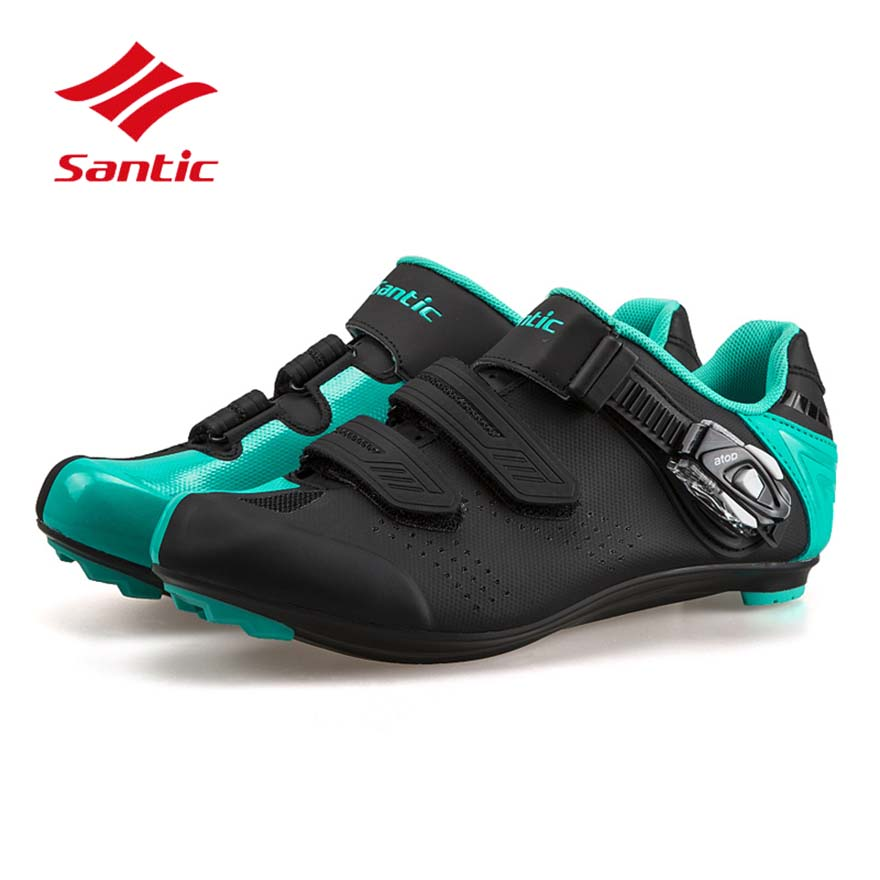 все цены на Santic Cycling Shoes Men Women 2018 Road Bike Self-Locking Shoes Breathable Athletic Bicycle Shoes Sneakers Sapatilha Ciclismo онлайн