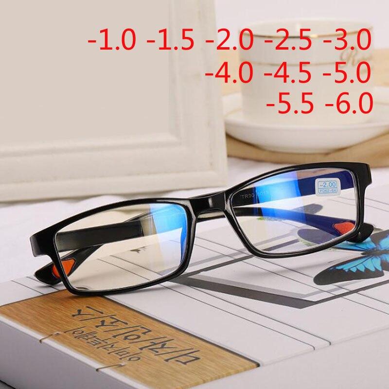 Square Myopia Glasses With Degree Women Men Short-sight Eyewear Black Frame Glasses -1.0 -1.5 -2.0 -2.5 -3.0 -3.5 -4.0 -5.0 -6.0