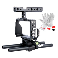 YELANGU HandheldVideo Cage Rig Kit Film Making System With 15mm Rod For Sony A6000 A6300 A6500