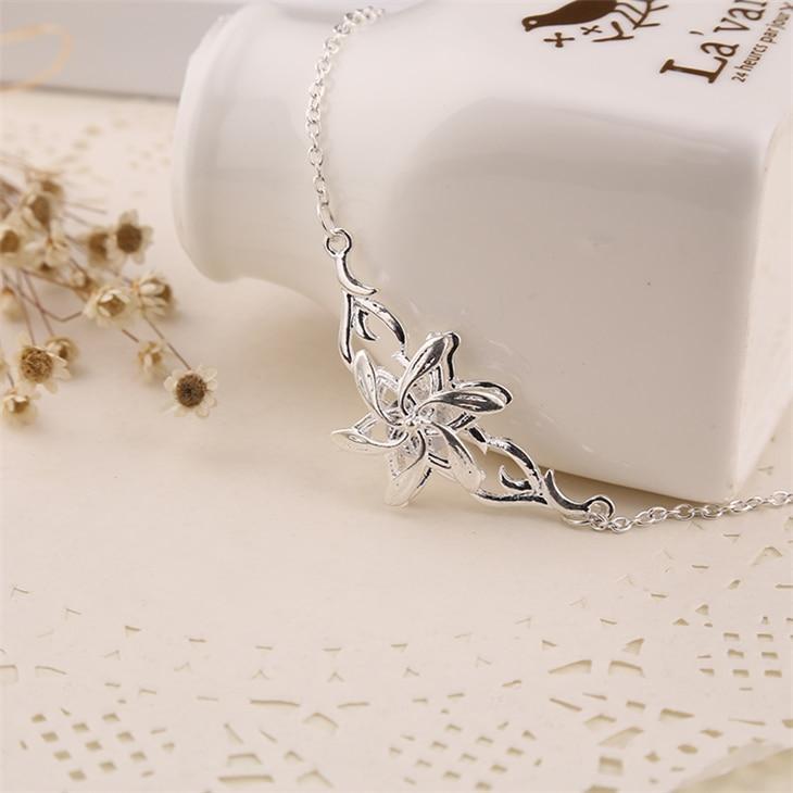 Женское Ожерелье с кулоном из фианита, серебристого цвета