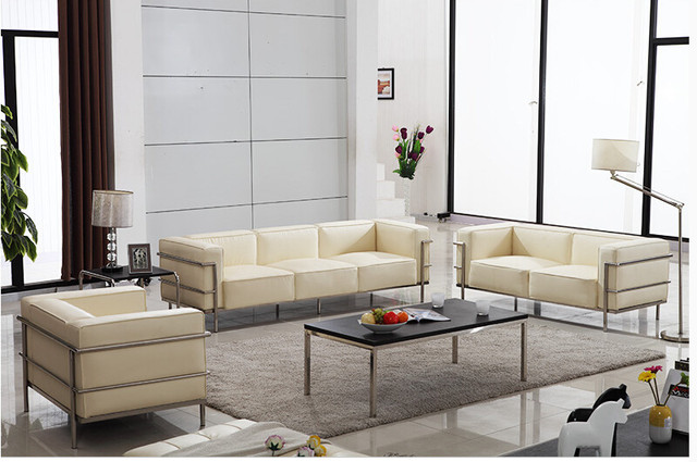 U BEST Home Furniture With Leather Upholstered Cushions Le Corbusier Lc3  Sofa living room. U BEST Home Furniture With Leather Upholstered Cushions Le