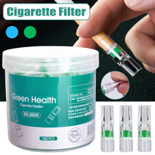 100Pcs Disposable Tobacco Cigarette Filter Smoking Reduce Tar Filtration Cleaning Holder