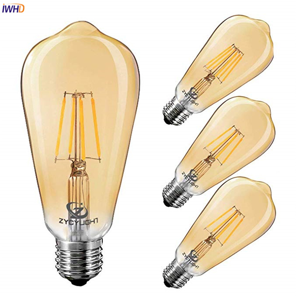 iwhd dimmable st64 led edison light bulb e27 220v 4w. Black Bedroom Furniture Sets. Home Design Ideas
