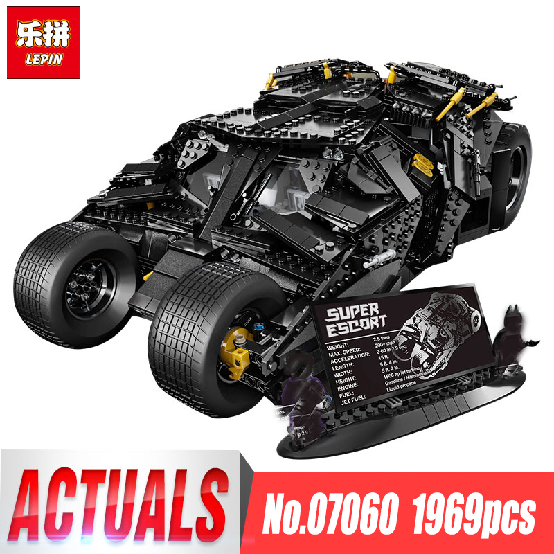 LEPIN 07060 NEW Super Hero Movie Series 1969Pcs The Batman Armored Chariot Set 76023 Building Block For Kids Bricks Toys lepin 07060 super series heroes movie the batman armored chariot set diy model batmobile building blocks bricks children toys