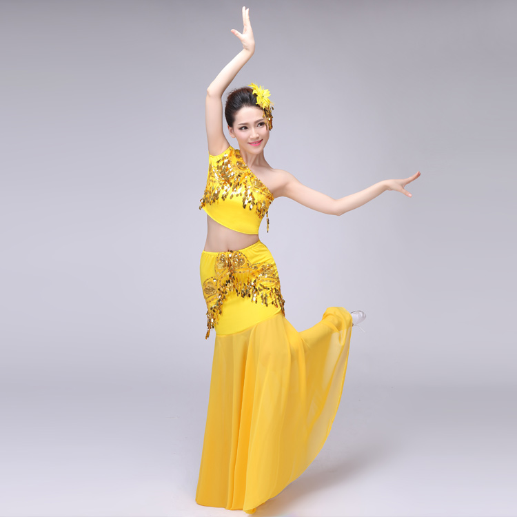 Picture of Adult Dai Dance Costume Peacock Dance Costume Women Chinese Folk Dance Dress