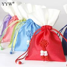 YYW 1 pcs Christmas Gold Organza Jewelry Cotton Pouch Favor Wedding Party Gift Bag Christmas Bags 100x150mm