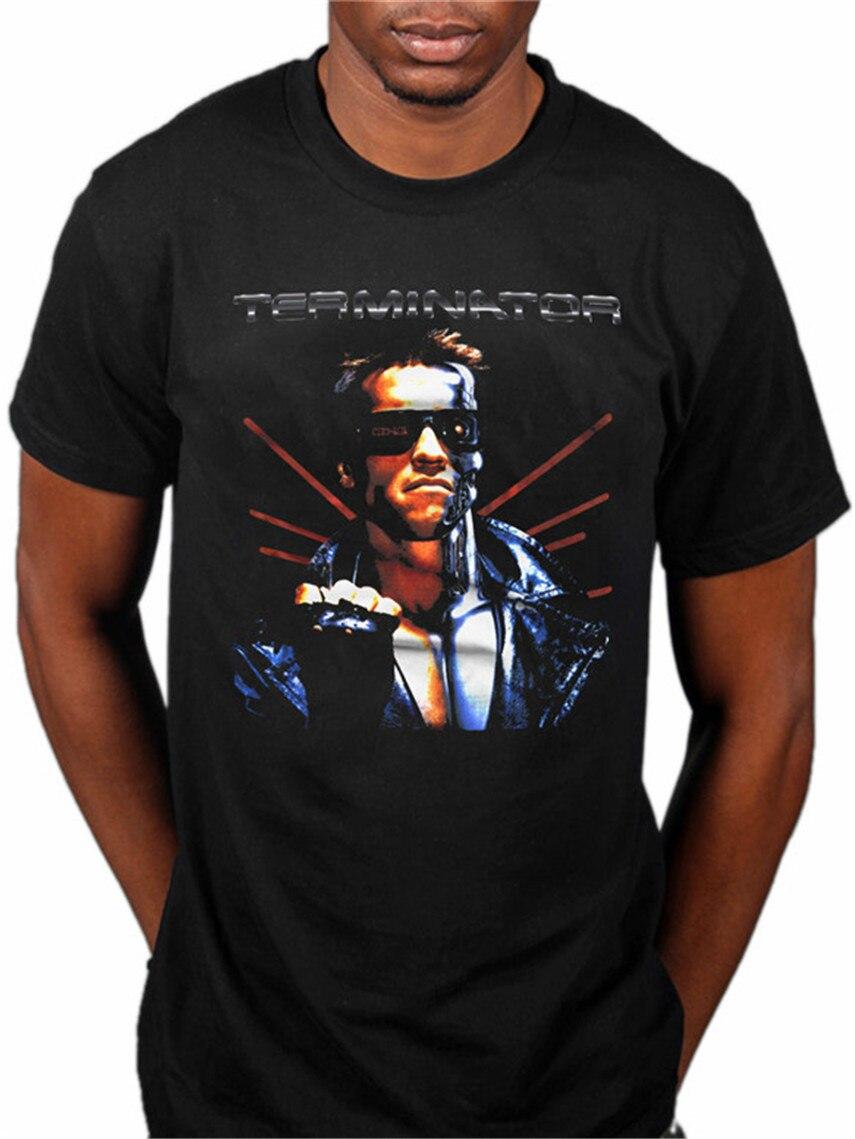 Official Terminator Terminated Printed T Shirt Movie Merch Classic Schwarzenegger Film
