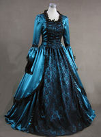 Ladies 18th Century Marie Antoinette Masked Ball Victorian Costume Medieval Gown