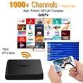 Receptor IPTV IPTV Caja Android TV Box Cielo europeo y 1000 + Cielo Francés Turco Holanda Canales Mejor Que MXV Android TV caja