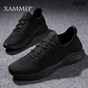 Image 1 - Кроссовки Xammep мужские сетчатые, повседневные брендовые сникерсы на плоской подошве, лоферы без застежки, дышащие, большие размеры, весна/осень/зима