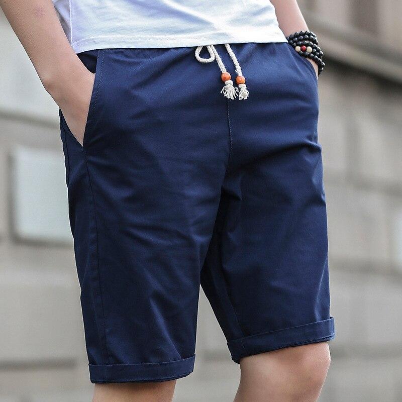 2019 New Shorts Men Hot Sale Casual Beach Shorts Homme Quality Bottoms Elastic Waist Fashion Brand Cotton Shorts Plus Size 3XL