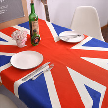 American style country cotton table pad cover uk flag decor tablecloth big British flag table cover printio british flag bus