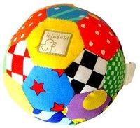 Candice guo peluş oyuncak dolması bebek bebek Çıngıraklar cep parlak renkli lalababy çan yumuşak top renkli desen patchwork hediye