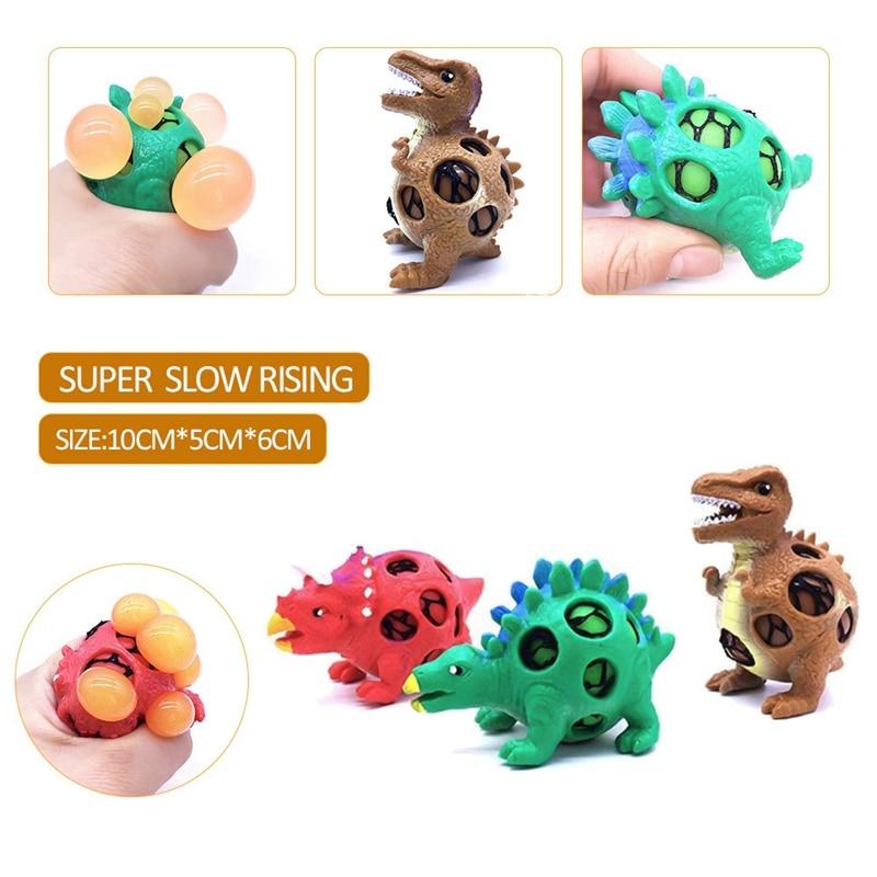 1 Pcs Kawaii Trauben Ball Dinosaurier Ei Squishy Anti Stress Reliever Squeeze Autismus Stimmung Stretchy Lustige Tricky Charms Kid Spielzeug Geschenk
