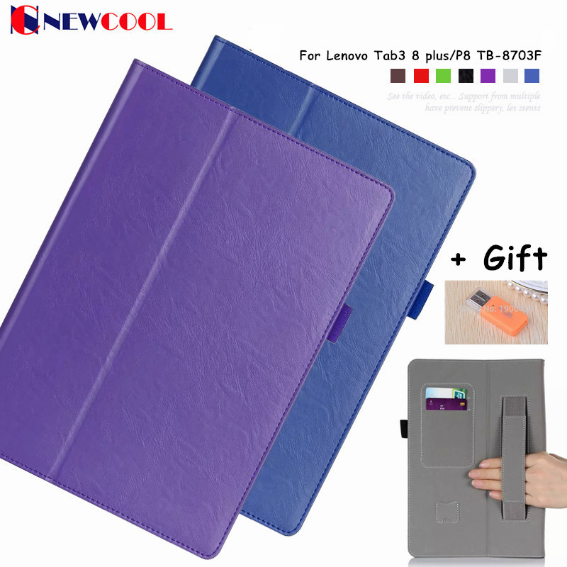 Tab3 8 plus Magntic Flip Cover For Lenovo Tab3 8 plus/P8 TB-8703F Tablet Case Protective shell smart cover цена 2016