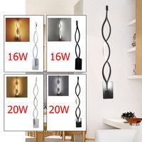 Aluminium Moderne LED Wandleuchte Leuchte Welle Spiegel Licht Kreative Korridor TV Hintergrund Beleuchtung Warmweiß/Weiß